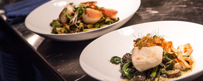 scallops asparagus delectable cuisine
