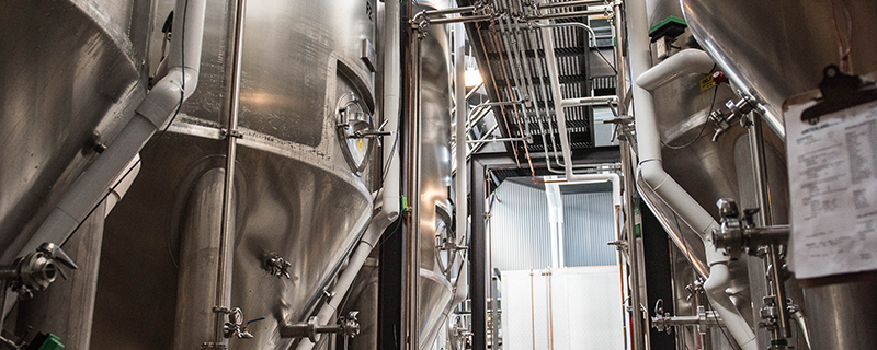brewery image of fermenters