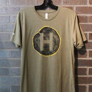 hinterland logo wood print tshirt
